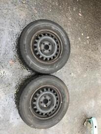 Vauxhall Corsa rim and tyres x2