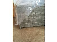 New Grey Rattan stool / table. Conservatory garden furniture
