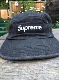 Supreme black denim hat