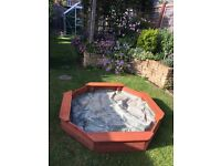 Sandpit made from Sturdy Wood, Excellent Condition.