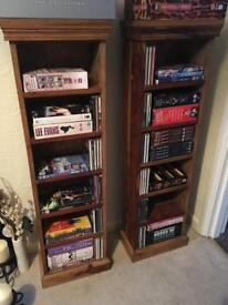 Solid wood dvd stands