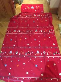 Christmas/Winter duvet cover and pillow case
