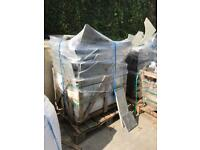 Kota blue limestone broken slabs, various sizes - 2 x wrapped pallets each cover 18m2