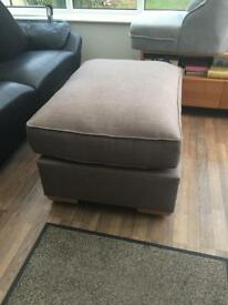Large Grey Footstool Brand New RRP £329