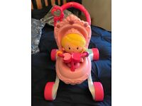 Fisher Price Princess Chime Doll & Stroller