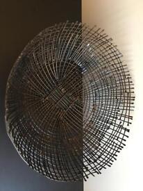 Brown metal fruit basket