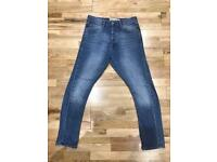 Topman Skinny Carrot jeans UK 30S in Blue ( slight vintage look)