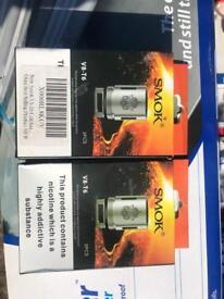 2 x packs (6 x coils) GENUINE SMOK V8-t6 E-cig coils