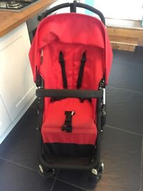 bugaboo cameleon plus footmuff and parasol red