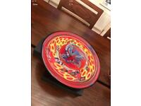 Glass red coloured Centrepiece table display bowl..... Christmas - like NEW