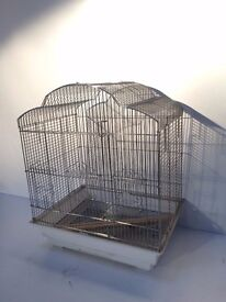 Sarah Budgie Bird Cage in Chrome.