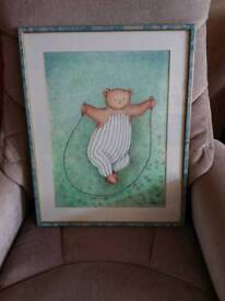 Large Teddy nursery picture