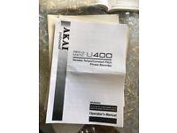 AKAI U400 sampler manual. Photocopy. Barely used