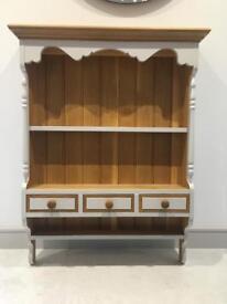 Wall dresser solid oak wood kitchen dining hall living display Unit pine grey