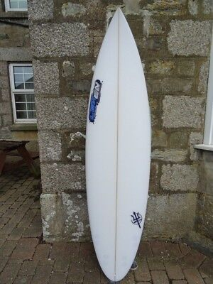 """Unused, Never Surfed 6'6"""" LEVEN surfboard with 5 FCS fin set up"""