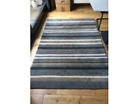 BEDECK 100% WOOL STRIPED GREY AND BLACK RUG. BOUGHT FROM FRASERS FOR £150 Great condition. Hyndland