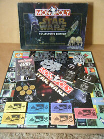 """Monopoly """"STAR WARS"""" Collectors Edition. Waddingtons 1997, Complete. Downloaded rule book."""