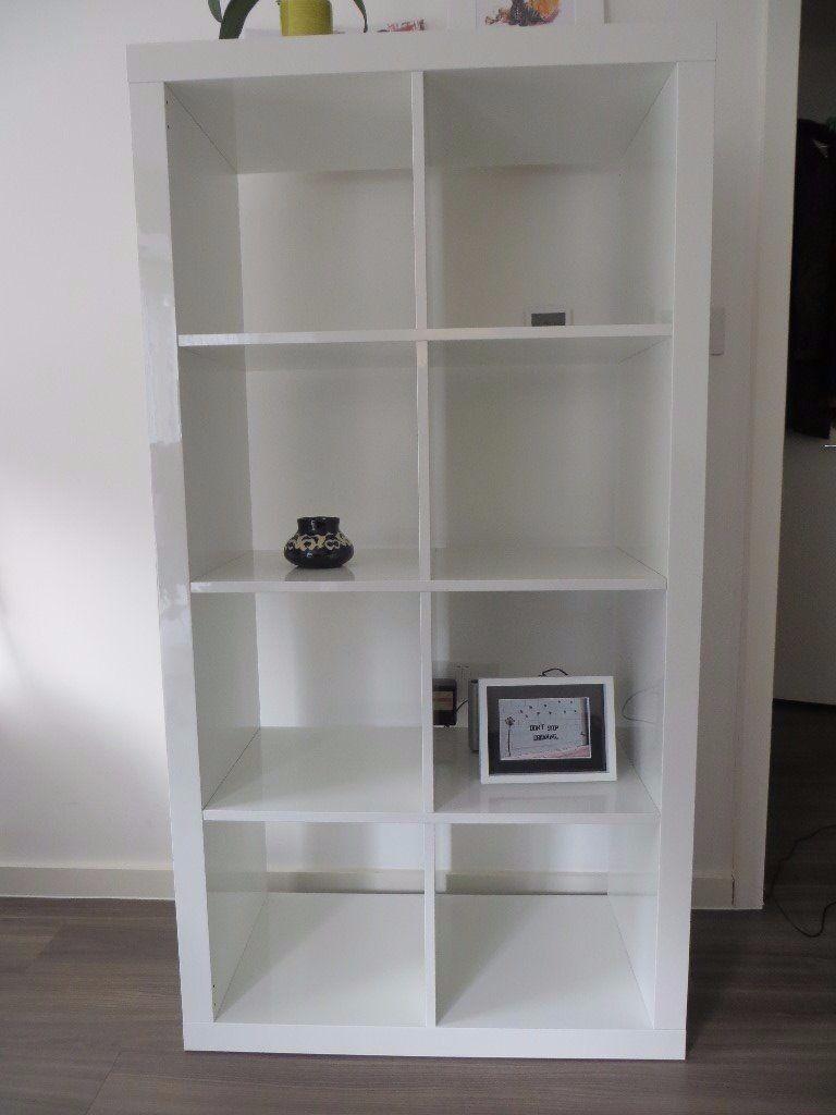 Kallax White Gloss Shelves Shelving Unit 2 X 4 In Ikea For 75