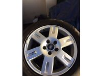 Ford 16inc alloys with tyres £100