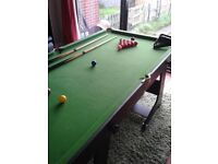 Snooker Table 6ft x 3ft, + Cues etc