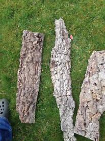 Cork bark sheets.