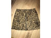 Leopard Print Next Skirt Size 10