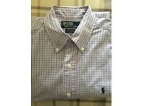 """Polo Ralph Lauren long sleeved shirt, 46"""" for loose fit. Excellent condition"""