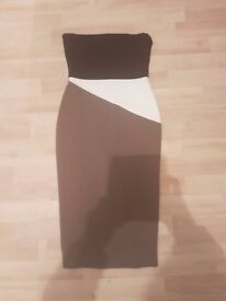River island size 8 fitted strapless dress