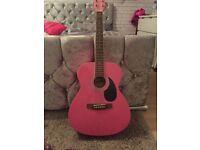 Pink 3/4 guitar with original box