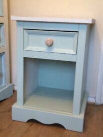 Duck Egg Blue bed side table