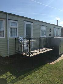 8 berth caravan for hire on kings oak caravan site chapel st Leonard's 10 mins from fantasy island.