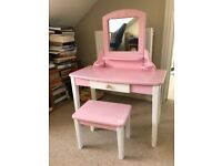 Girl's dressing table and stool.