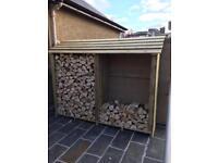 Seasoned firewood hardwood logs