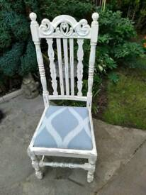 Carved shabby chic chair