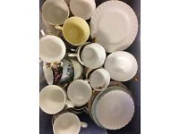 Vintage Tea Cup and Saucers (weddings, events, home)