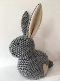Grey Rabbit Door Stop
