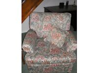 Pair of Fabric Country Cottage Style Arm Chairs