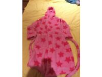 Girls 9-10year Marks & Spencer Nightgown, hood and tie, good condition from pet and smoke free home