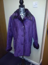 Ladies Centigrade Faux Sheepskin Coat