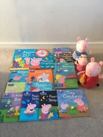 Peppa Pig Book and Soft Toy Bundle - XMAS