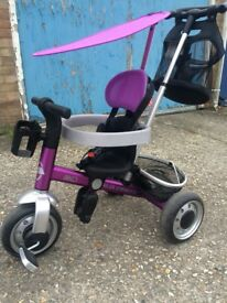 Toddler bike purple used condition