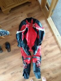 Full leather motorcycle suit - Large