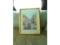 3 SIGNED PRINTS BY JAMES KAY BROOMIELAW AND ARGYLL STREET GLASGOW ,,SEINE PARIS
