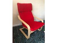 Ikea Red Armchair