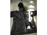 North Face womens black waterproof jacket, excellent condition.