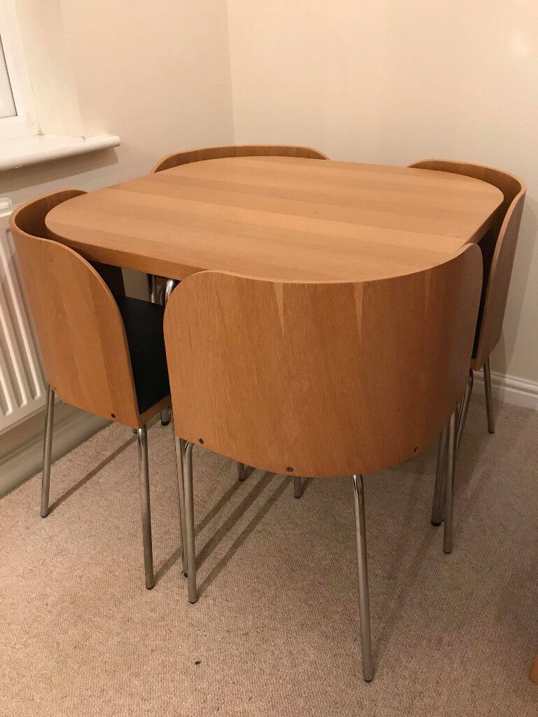 HYGENA DINING TABLE + 4 CHAIRS