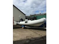 5.5M APEX RIB WITH 115HP OUTBOARD AND TRAILER