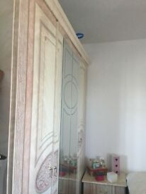 Bedroom Furniture SET - 3 Cupboard Wardrobe, 2 Chest Drawers, Bed, Dressing Table