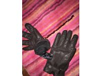 Dark brown leather, Large H&M gloves - £10