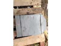 Plastic roof slates